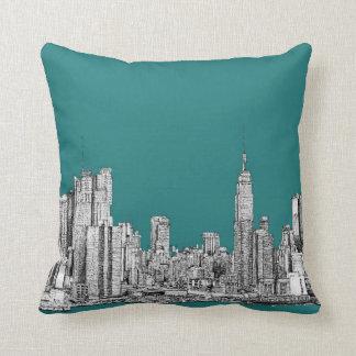 turquesa NYC Cojin
