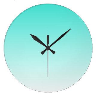 Turquesa Ombre Reloj Redondo Grande