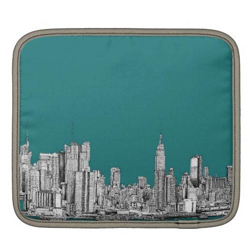 Turquesa oscura NYC Fundas Para iPads