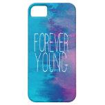 Turquesa para siempre joven Ombre iPhone 5 Carcasas