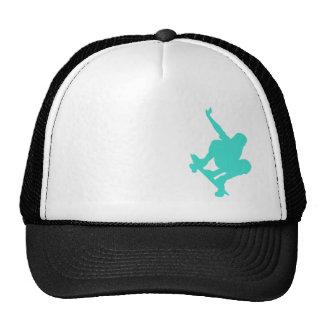 Turquesa; Patinador del verde azul Gorros