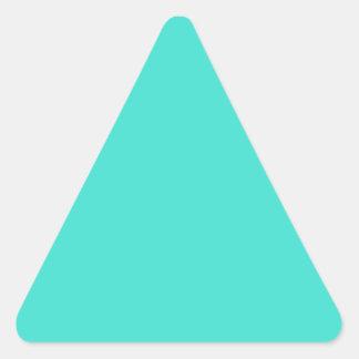 Turquesa Pegatina Triangular