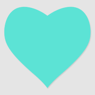 Turquesa Pegatina En Forma De Corazón