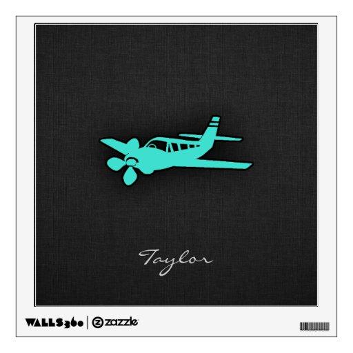 Turquesa; Pequeño aeroplano del verde azul