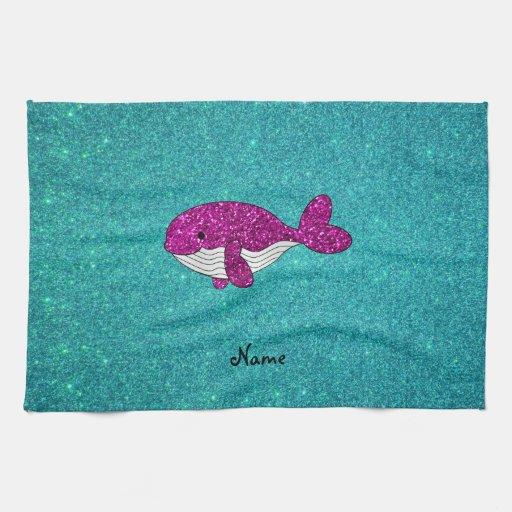 Turquesa rosada conocida personalizada de la balle toalla