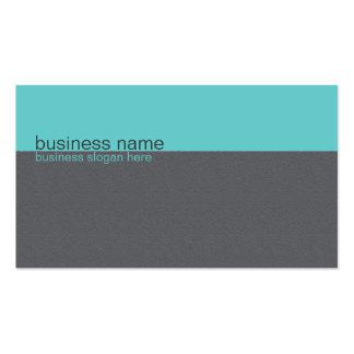 Turquesa simple elegante llana/raya gris plantillas de tarjetas de visita
