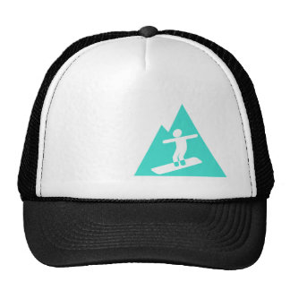Turquesa; Snowboard del verde azul Gorras