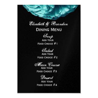 Turquesa subió casando el menú invitación 12,7 x 17,8 cm