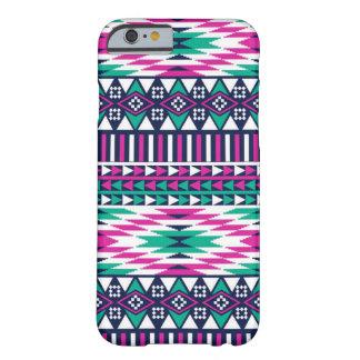 Turquesa tribal funda de iPhone 6 barely there