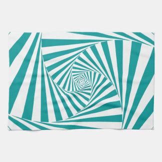 Turquesa visual de la ilusión toallas de cocina