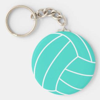 Turquesa; Voleibol del verde azul Llavero Redondo Tipo Pin