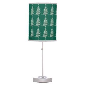 Turquesa y árboles de pino verdes del modelo de zi lámpara de mesilla de noche
