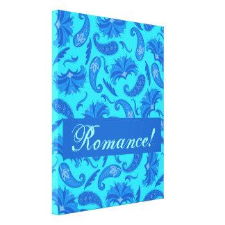 Turquesa y arte adaptable azul del romance de Pais Impresión De Lienzo