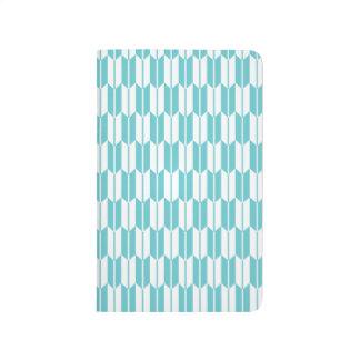 Turquesa y colas blancas de la flecha cuadernos