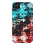Turquesa y embaldosado rojo del mosaico iPhone 4 coberturas