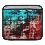 Turquesa y embaldosado rojo del mosaico mangas de iPad