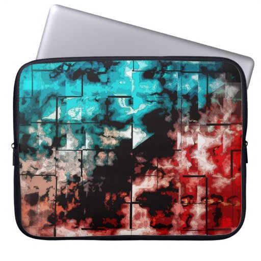 Turquesa y embaldosado rojo del mosaico manga portátil