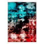 Turquesa y embaldosado rojo del mosaico tarjeta de felicitación