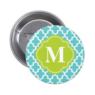 Turquesa y monograma de encargo marroquí moderno d pin