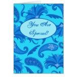 Turquesa y nota de saludo modificada para tarjeta de felicitación