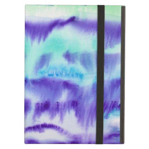 Turquesa y pintura abstracta púrpura de la acuarel