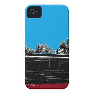 Turquesa y rojo con tinta negra iPhone 4 Case-Mate fundas