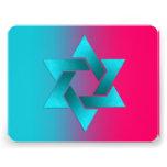 Turquesa y rosa de Mitzvah del palo Anuncio Personalizado