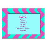 Turquesa y rosa tarjeta de visita