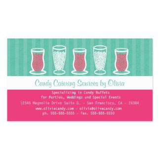 Turquesa y tarjeta de visita rosada de abastecimie