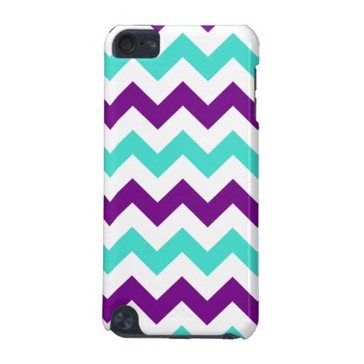 Turquesa y zigzag púrpura