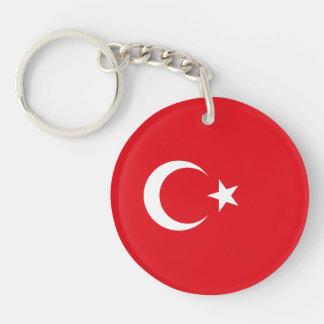 Turquía - bandera turca llavero redondo acrílico a doble cara