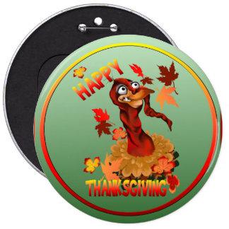 Turquía-Botón feliz de la acción de gracias Pin Redondo 15 Cm