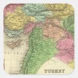 Turquía en Asia 2 Pegatina Cuadrada