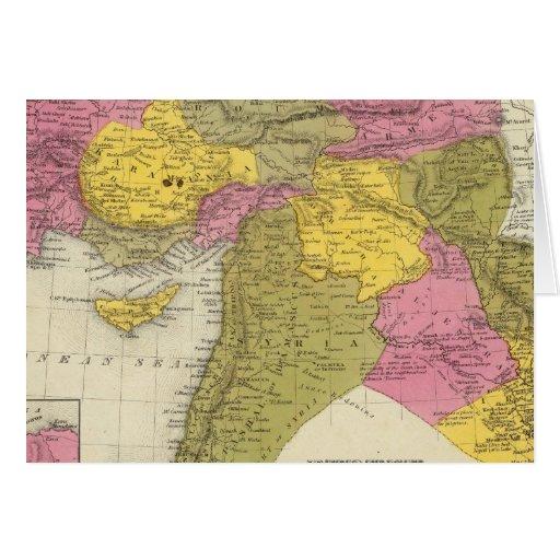 Turquía en Asia 2 Tarjeta De Felicitación