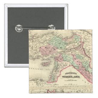 Turquía en Asia, Persia, Arabia, Beloochistan Pin Cuadrado