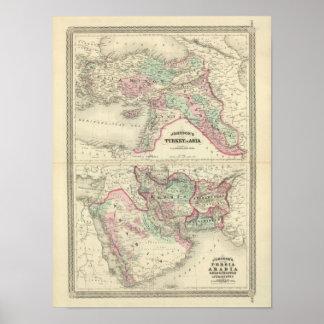 Turquía en Asia, Persia, Arabia, Beloochistan Póster