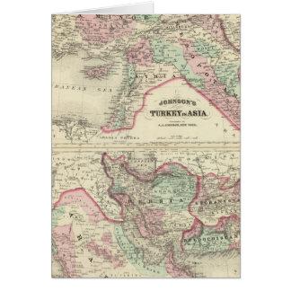 Turquía en Asia, Persia, Arabia, Beloochistan Tarjeta De Felicitación