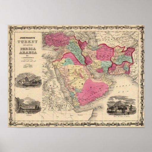 Turquía en Asia Persia Arabiaandc Posters