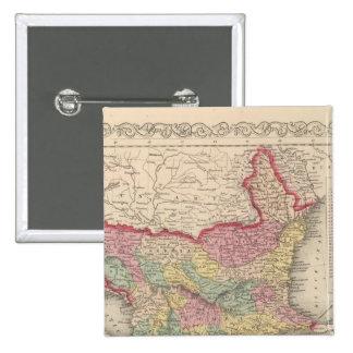 Turquía en Europa 8 Pin Cuadrada 5 Cm