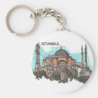 Turquía Estambul Hagia Sophia (por St.K) Llavero Redondo Tipo Pin