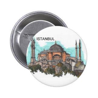 Turquía Estambul Hagia Sophia (por St.K) Pin Redondo De 2 Pulgadas