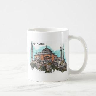 Turquía Estambul Hagia Sophia (por St.K) Taza Básica Blanca