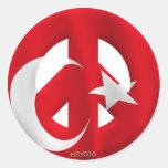 Turquía Etiqueta Redonda