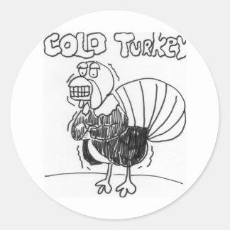 Turquía fría pegatina redonda
