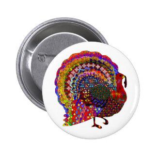 Turquía Jeweled Pin Redondo 5 Cm