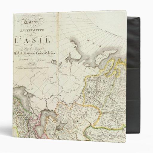 """Turquía, Rusia y mapa grabado Asia Carpeta 1 1/2"""""""