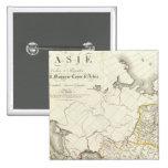 Turquía, Rusia y mapa grabado Asia Pin Cuadrado