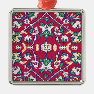 Turquía, turco, materia textil, paño, rojo adorno navideño cuadrado de metal