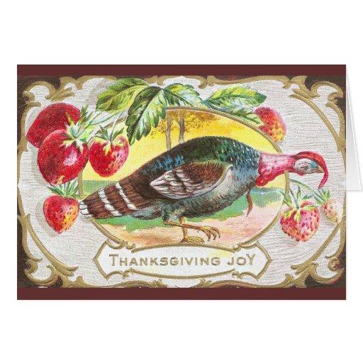 Turquía y fresas felicitaciones