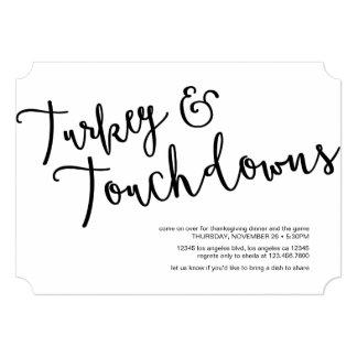 """Turquía y la cena de la acción de gracias de los invitación 5"""" x 7"""""""